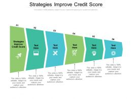 Strategies Improve Credit Score Ppt Powerpoint Presentation Outline File Formats Cpb