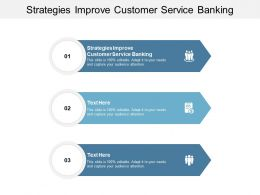 Strategies Improve Customer Service Banking Ppt Powerpoint Presentation Infographic Template Graphics Pictures Cpb