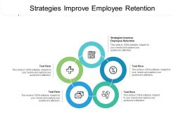 Strategies Improve Employee Retention Ppt Powerpoint Presentation Infographics Display Cpb