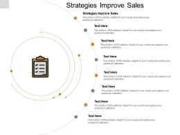 Strategies Improve Sales Ppt Powerpoint Presentation Summary Design Inspiration Cpb