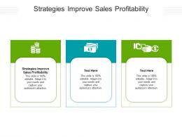 Strategies Improve Sales Profitability Ppt Powerpoint Presentation Summary Show Cpb