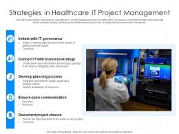 Strategies In Healthcare IT Project Management