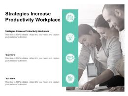 Strategies Increase Productivity Workplace Ppt Powerpoint Presentation Inspiration Design Inspiration Cpb