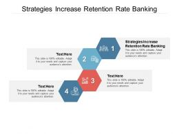 Strategies Increase Retention Rate Banking Ppt Powerpoint Presentation Styles Mockup Cpb