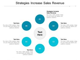 Strategies Increase Sales Revenue Ppt Powerpoint Presentation Outline Guide Cpb