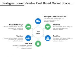 Strategies Lower Variable Cost Broad Market Scope Uniqueness Competency