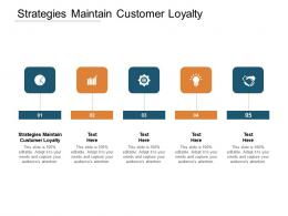Strategies Maintain Customer Loyalty Ppt Powerpoint Presentation Styles Template Cpb