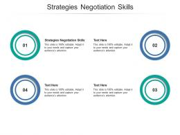 Strategies Negotiation Skills Ppt Powerpoint Presentation Ideas Show Cpb