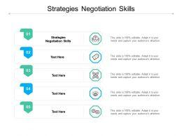 Strategies Negotiation Skills Ppt Powerpoint Presentation Professional Graphics Example Cpb