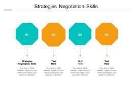 Strategies Negotiation Skills Ppt Powerpoint Presentation Slides Show Cpb