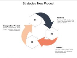 Strategies New Product Ppt Powerpoint Presentation Gallery Aids Cpb