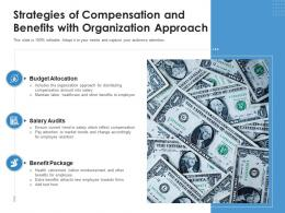Strategies Of Compensation And Benefits With Organization Approach