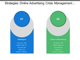 Strategies Online Advertising Crisis Management Plan Communication Skills
