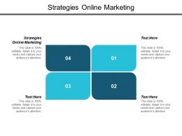 Strategies Online Marketing Ppt Powerpoint Presentation Layouts Themes Cpb