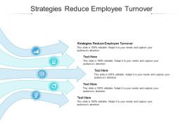 Strategies Reduce Employee Turnover Ppt Powerpoint Presentation Slides Objects Cpb