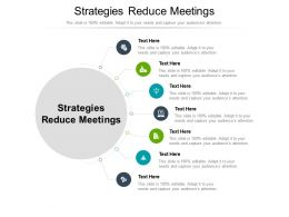 Strategies Reduce Meetings Ppt Powerpoint Presentation Pictures Templates Cpb