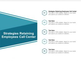 Strategies Retaining Employees Call Center Ppt Powerpoint Presentation Portfolio Aids Cpb