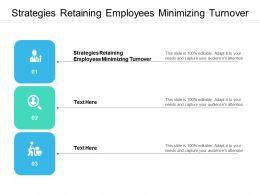 Strategies Retaining Employees Minimizing Turnover Ppt Powerpoint Presentation Background Cpb