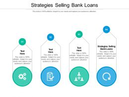 Strategies Selling Bank Loans Ppt Powerpoint Presentation Professional Examples Cpb