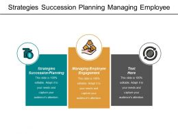 Strategies Succession Planning Managing Employee Engagement Project Management Marketing Cpb