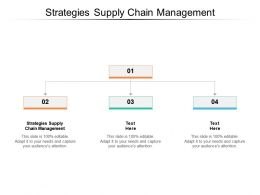 Strategies Supply Chain Management Ppt Powerpoint Presentation Pictures Smartart Cpb