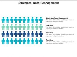 Strategies Talent Management Ppt Powerpoint Presentation Infographic Template Cpb