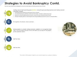 Strategies To Avoid Bankruptcy Contd Consignment Basis Ppt Presentation Styles