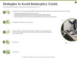Strategies To Avoid Bankruptcy Contd Re Negotiate Ppt Powerpoint Presentation Visuals