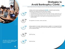 Strategies To Avoid Bankruptcy Contd Voice Over Ppt Powerpoint Presentation Model Show