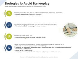 Strategies To Avoid Bankruptcy Income Taxes Ppt Powerpoint Presentation Model