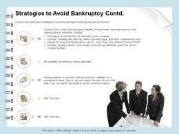 Strategies To Avoid Bankruptcy Operating Ppt Ideas
