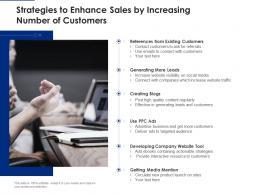 Strategies To Enhance Sales By Increasing Number Of Customers
