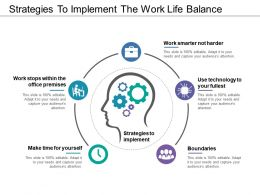 Strategies To Implement The Work Life Balance