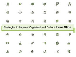 Strategies To Improve Organizational Culture Icons Slide Ppt Powerpoint Presentation Maker