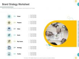 Strategies To Make Your Brand Unforgettable Brand Strategy Worksheet Ppt Rules