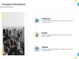 Strategies To Make Your Brand Unforgettable Company Introduction Ppt Powerpoint Diagrams