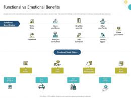Strategies To Make Your Brand Unforgettable Functional Vs Emotional Benefits Ppt Information