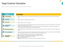 Strategies To Make Your Brand Unforgettable Target Customer Description Ppt Background