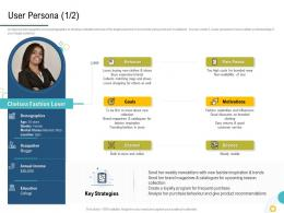 Strategies To Make Your Brand Unforgettable User Persona Expensive Ppt Elements