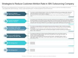Strategies To Reduce Customer Attrition Rate In IBN Outsourcing Company Reasons High Customer Attrition Rate