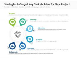 Strategies To Target Key Stakeholders For New Project