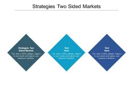 Strategies Two Sided Markets Ppt Powerpoint Presentation Layouts Shapes Cpb
