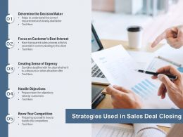 Strategies Used In Sales Deal Closing
