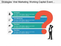 Strategies Viral Marketing Working Capital Event Planning Business Cpb