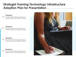 Strategist Framing Technology Infrastructure Adoption Plan For Presentation