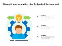 Strategist Icon Incubation Idea For Product Development