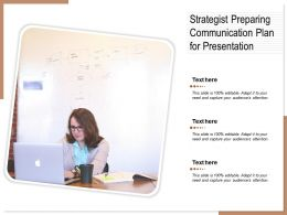Strategist Preparing Communication Plan For Presentation