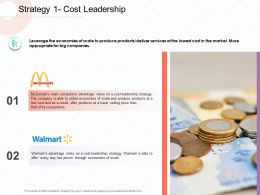 Strategy 1 Cost Leadership Competitors M1828 Ppt Powerpoint Presentation Model
