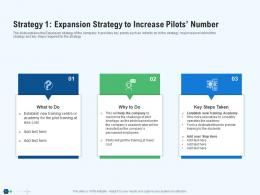 Strategy 1 Expansion Strategy To Increase Pilots Number Team Ppt Deck