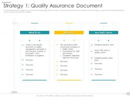 Strategy 1 Quality Assurance Document Strategies Reduce Construction Defects Claim